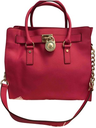 Michael Kors Hamilton Purple Leather Handbags