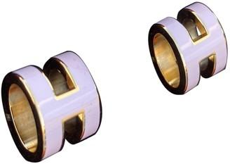 Hermã ̈S HermAs Pop H Pink Metal Earrings