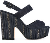 Le Silla denim platform sandals - women - Cotton/Leather - 36