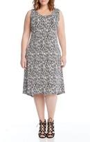 Karen Kane Plus Size Women's Print High/low Hem Dress