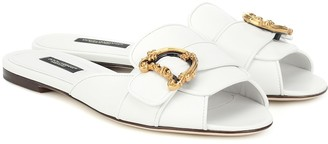Dolce & Gabbana Bianca leather slides
