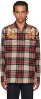 Gucci Multicolor Embroidered Check Shirt