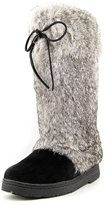 BearPaw Boots Womens Elsa Rabbit Fur Cow Hair 7 Black 1856W