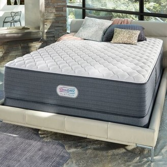 "Simmons Platinum 13"" Extra Firm Innerspring Mattress and Box Spring Mattress Size: California King, Box Spring Height: Low Profile"
