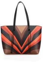 Elena Ghisellini Miky Tiger Medium Multicolor Leather Shopper