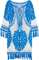 Temperley London Ramosa fringed cotton dress