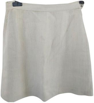 Versace White Wool Skirt for Women