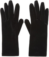 Balenciaga - Gants en velours noirs P