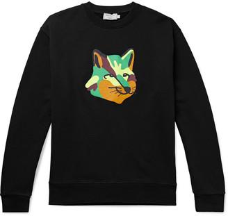MAISON KITSUNÉ Printed Loopback Cotton-Jersey Sweatshirt