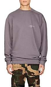 Off-White Men's Logo Twisted Cotton Terry Sweatshirt - Gray