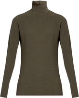 Haider Ackermann Roll-neck cotton and wool-blend sweater