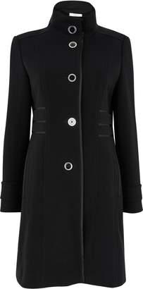 Wallis PETITE Black Funnel Coat