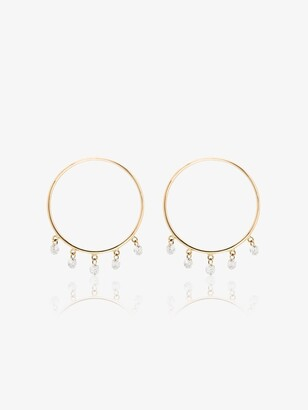 PERSÉE 18kt Yellow Gold Diamond Hoop Earrings
