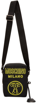 Moschino Black Neon Logo Messenger Bag