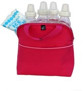 J L Childress MaxiCOOL 4 Bottle Cooler, Pink/Light Pink by