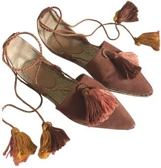 Ulla Johnson Pink Suede Sandals