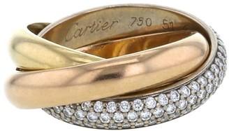 Cartier 2010 yellow, rose and white gold Trinity medium model diamond ring
