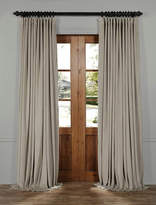Half Price Drapes Signature Solid Extra Wide Velvet Blackout Rod Pocket Single Curtain Panel