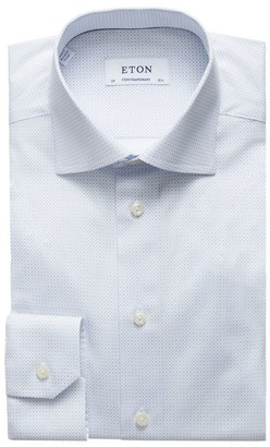 Eton Contemporary-Fit Micro Print Dress Shirt