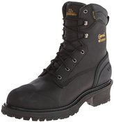 Chippewa Men's 8 Inch Oiled WP Rubber Toe CTR Logger Boot
