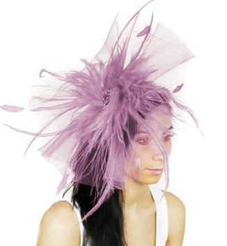 Hats By Cressida Womens Occasion Aneta Large Lilac Ascot Derby Fascinator Hat - with Headband