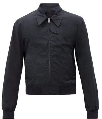 Helmut Lang Harness-strap Cotton Trench Bomber Jacket - Navy