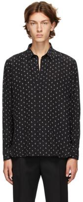 Saint Laurent Black Silk Anchor Shirt