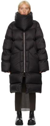Rick Owens Black Down Funnel Liner Puffer Jacket