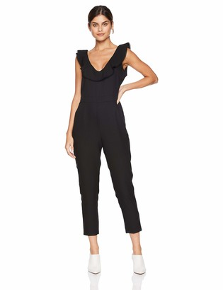 Cupcakes And Cashmere Women's Lima V-Neck Jumpsuit with Ruffle
