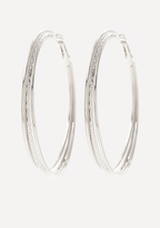 Bebe 3-Row Hoop Earrings