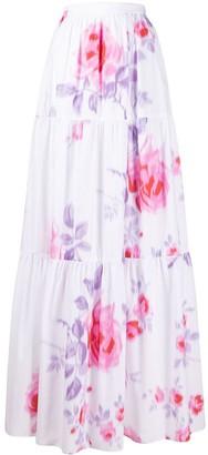 Philosophy di Lorenzo Serafini Floral Print Maxi Skirt
