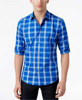 Alfani Big & Tall Men's Jacobs Plaid Cotton Shirt, Only at Macy's