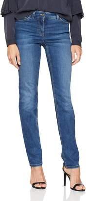 Gerry Weber Women's Hose Jeans Lang Straight (Blue Denim 841008) W42/L32 (Size: 42R)
