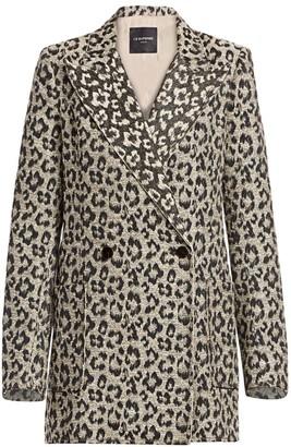le superbe Leopard Print Jacket Dress