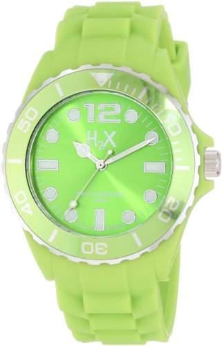 Haurex H2X Men's SV382UV1 Reef Luminous Water Resistant Neon Green Soft Rubber Watch