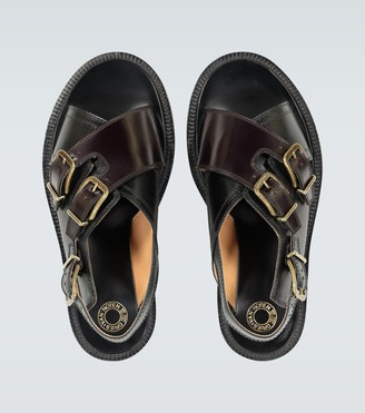 Dries Van Noten Leather buckled sandals