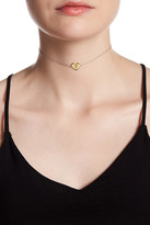 Argentovivo Sterling Silver 'R' Initial Heart Choker Necklace