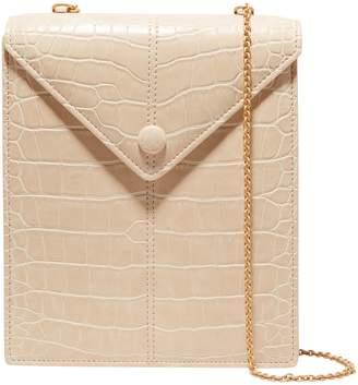 Nanushka Tove Croc-effect Vegan Leather Shoulder Bag