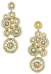 Gas Bijoux Women's Tornade 24K Goldplated & Swarovski Crystal Chandelier Earrings