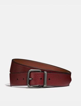 Coach Harness Buckle Cut-To-Size Reversible Belt, 38Mm