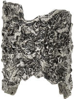 Alexander McQueen Silver Molten Metal Cuff
