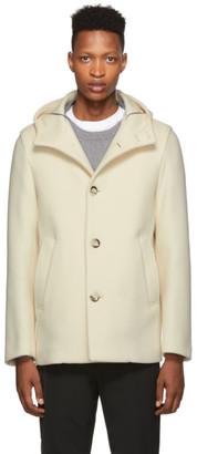 Herno White Wool Thick Coat