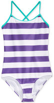 Kanu Surf 1-Pc. Layla Striped Swimsuit, Big Girls (7-16)