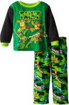 Nickelodeon Teenage Mutant Ninja Turtles Little Boys' Camo Masks Cozy Fleece Pajama Set ,Multi