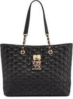 Betsey Johnson Be My Baby Quilted Tote Bag, Black