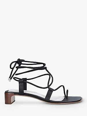 Rag & Bone Cindy Leather Lace-Up Sandals, Black