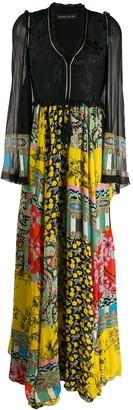 Etro patchwork-print long dress
