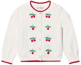 Rachel Riley Cream Cherry Embroidered Cardigan