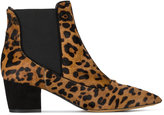 Tabitha Simmons Shadow leopard print ankle boots