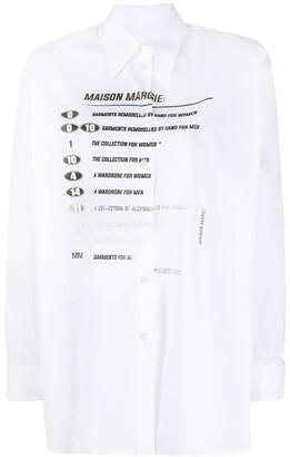 MM6 MAISON MARGIELA Printed Long-Sleeved Shirt